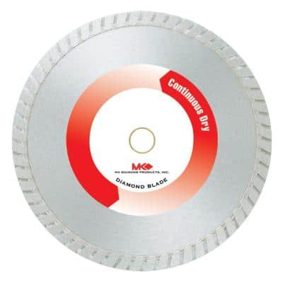 10 in. Continuous Rim Dry Cutting General Purpose Saw Blade