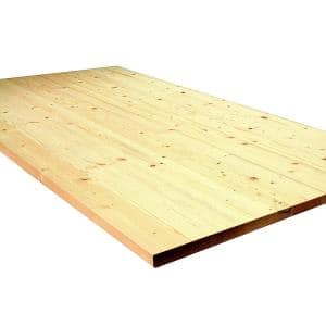1 in. x 30 in. x 48 in. Allwood Pine Project Panel, Table Island Top
