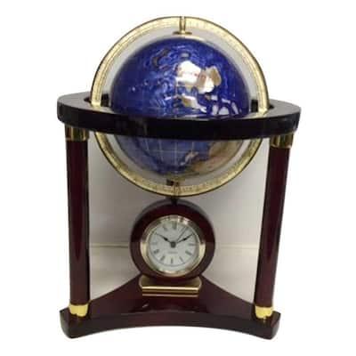 Large Globe Wood Clock