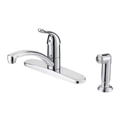 Impressions Collection Single-Handle Kitchen Faucet with Matching in Side Sprayin Chrome
