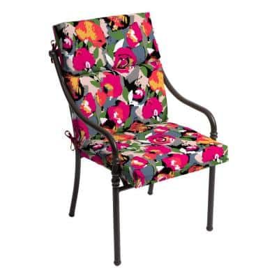 21.5 in. x 24 in. Vista Mesa Outdoor High Back Dining Chair Cushion (2-Pack)