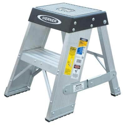 2 ft. Aluminum Step Ladder with 375 lb. Load Capacity Type IAA Duty Rating