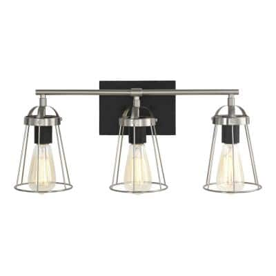 Dames 3-Light Brushed Nickel Vanity Light