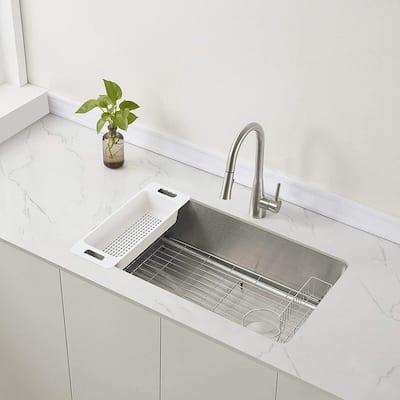 Verona Offset Drain Kitchen Sink 16-Gauge Stainless Steel (32 in. Reversible Undermount)