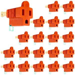 Polarized Grounding 2-Prong Adapter, Orange, (20-Pack)
