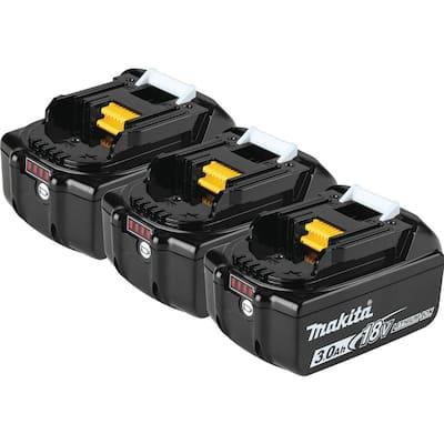 18-Volt LXT Lithium-Ion 3.0 Ah Battery (3-Pack)