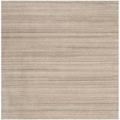 Himalaya Stone 6 ft. x 6 ft. Square Solid Area Rug