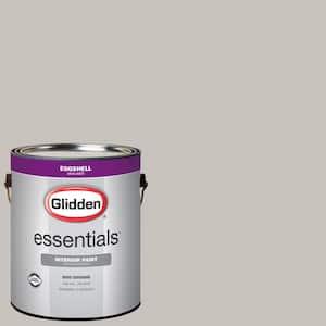 Glidden Essentials 1 Gal Hdgcn54 Sutton Place Grey Eggshell Interior Paint Hdgcn54e 01en The Home Depot