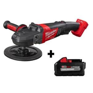 M18 FUEL 18-Volt Lithium-Ion Brushless Cordless 7 in. Variable Speed Polisher with HIGH OUTPUT XC 8.0Ah Battery