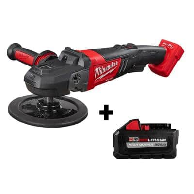 M18 FUEL 18-Volt Lithium-Ion Brushless Cordless 7 in. Variable Speed Polisher W/ HIGH OUTPUT XC 8.0Ah Battery