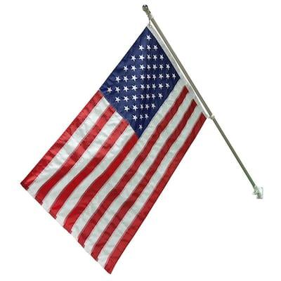 3 ft. x 5 ft. Nylon US Flag with 6 ft. Aluminum Pole and Nylon Bracket