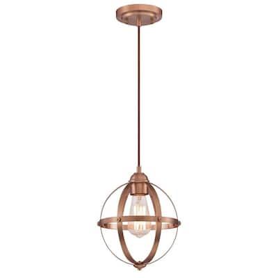 Stella Mira 1-Light Washed Copper Mini Pendant