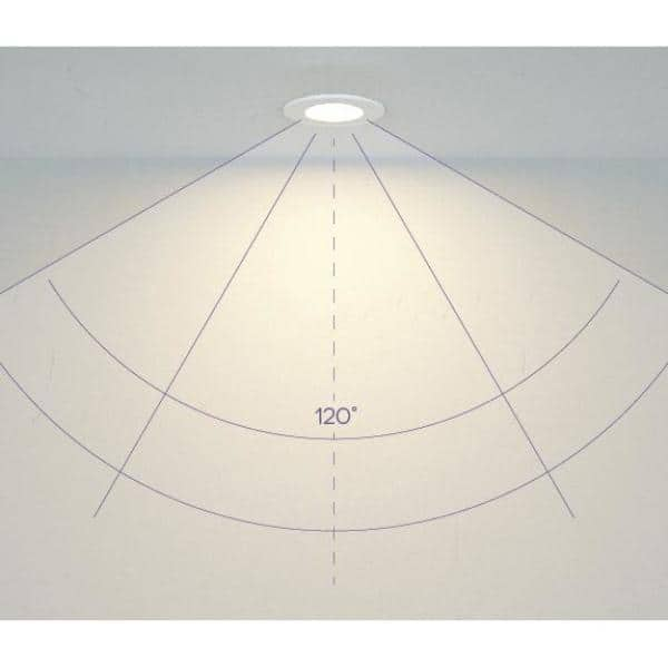 Bazz Slim 4 In Matte White Integrated Led Recessed Fixture Kit Slmrd4w The Home Depot
