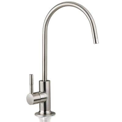 European Designer Drinking Water Faucet for Reverse Osmosis Water Filtration Systems in Brushed Nickel