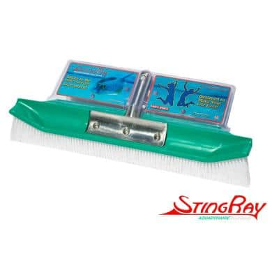 New & Improved Aquadynamic 18 in. Pro Series 100% Poly Pool Brush Design that Sticks to the Walls & Floor, Guaranteed