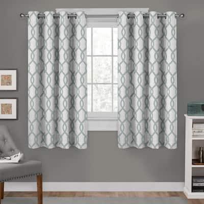Seafoam Trellis Grommet Room Darkening Curtain - 54 in. W x 63 in. L (Set of 2)