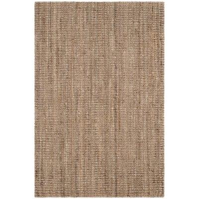 Natural Fiber Beige/Grey 4 ft. x 6 ft. Indoor Area Rug