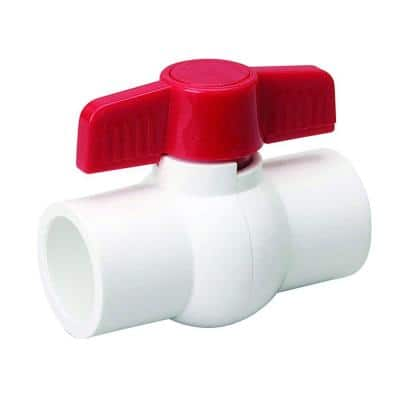 2 in. PVC Sch. 80 S x S Ball Valve with Quarter-Turn Operation