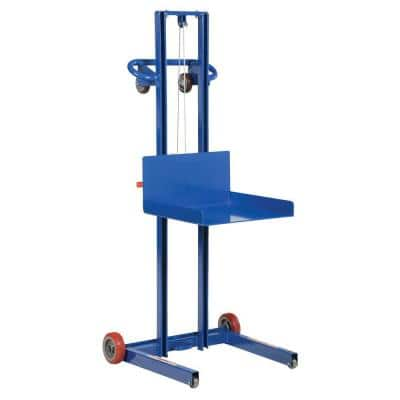 500 lb. Steel Low Profile Winch Operated Lite Load Lift with Fixed Wheel