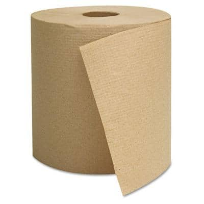 Hardwound Towels Brown 1-Ply Brown 800ft (6 Rolls per Carton)