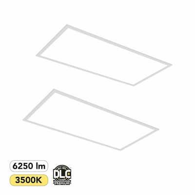 2 ft. x 4 ft. 400-Watt Equivalent White Integrated LED Backlit Troffer, 6250 Lumens, 3500K Warm White (2-Pack)