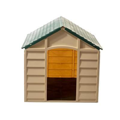 Dog Kennel Beige and Green-Large