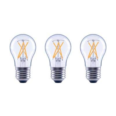 40-Watt Equivalent A15 Dimmable ENERGY STAR Clear Glass Filament Vintage Edison LED Light Bulb Bright White (3-Pack)