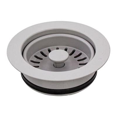 3.5 in. Plastic Disposal Strainer in Concrete Grey