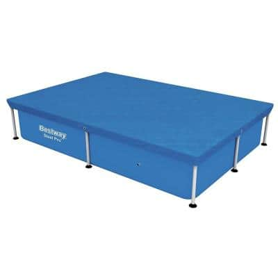 87 in. L x 59 in. W x 17 in. H Rectangle Above Ground Swimming Leaf Pool Cover for Steel Pro Pool