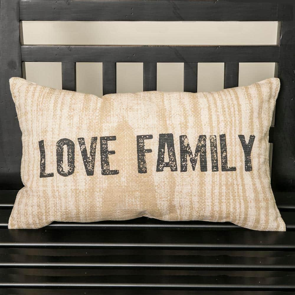 Heart Pillow Cover Natural Denim Heart on Tan and Natural Homespun Raw Edge Applique 12x12 Pillow Cover