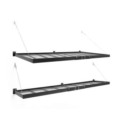 Pro Series 4 ft. x 8 ft. and 2 ft. x 8 ft. Steel Garage Wall Shelving (2-Pack)