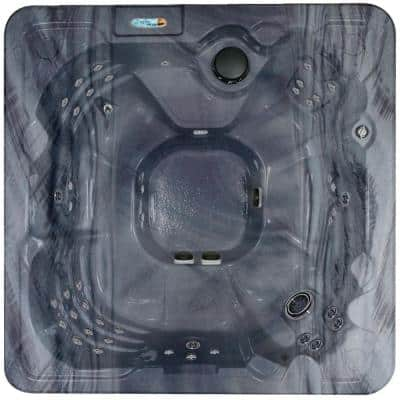 Corsica 8-Person Luxurious 90-Jet Standard Hot Tub w/Ozonator LED Light, Polar Insulation, WOW Sound System & Hard Cover