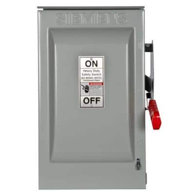 Heavy Duty 60 Amp 600-Volt 3-Pole Outdoor Non-Fusible Safety Switch