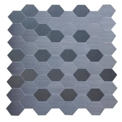 12 in. x 12 in. Peel and Stick Metal Mosaic Wall Tile (6 sq. ft. / case)