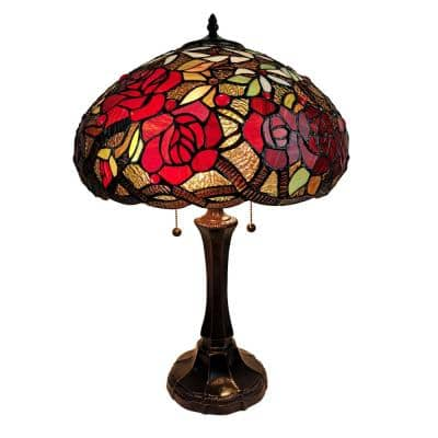 24 in. Tiffany Style Roses Table Lamp