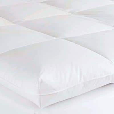Baffled Square 4 in. Goose Down Featherbed Topper