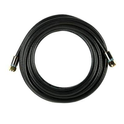 15 ft. RG-6 Coaxial Cable - Black