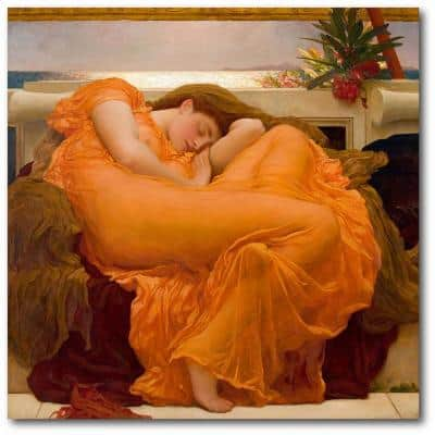 Flaming June Frederic Leighton Gallery-Wrapped Canvas Nature Wall Art 16 in. x 16 in.