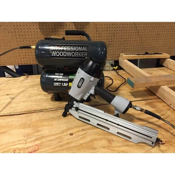 Professional Woodworker 21 Degree Full Round Head Framing Nailer 7564 The Home Depot