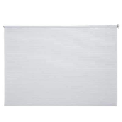 White Wheel-Operated PVC Exterior Shade 96 in. W x 72 in. L