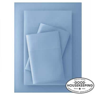 Brushed Soft Microfiber 4-Piece Queen Sheet Set in Washed Denim