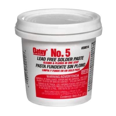 No. 5 8 oz. Lead-Free Water Soluble Solder Flux Paste