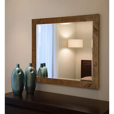 36 In W X 30 H Framed Rectangular, 36 X 42 Framed Beveled Mirror