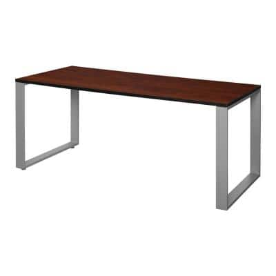 Structure 72 in. x 30 in. Cherry/Grey Training Table