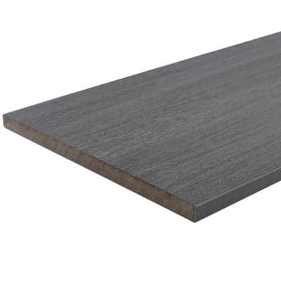 UltraShield Naturale Fascia 0.5 in. x 12 in. x 6 ft. Westminster Gray Composite Fasica Decking Board