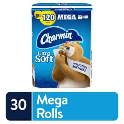 Ultra-Soft Toilet Paper (30-Mega Rolls)