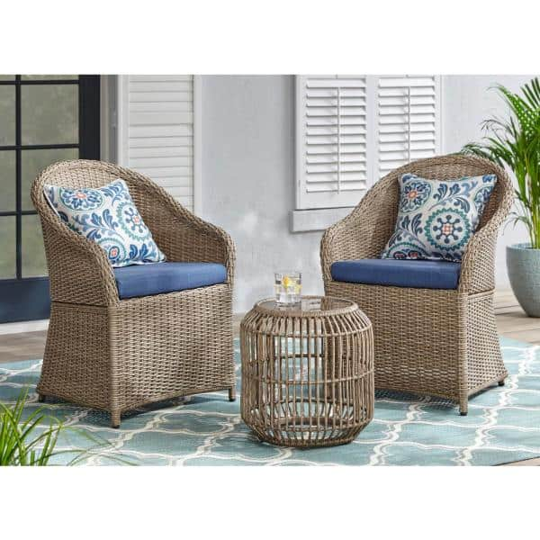 Stylewell Florence 3 Piece Wicker, Home Depot Outdoor