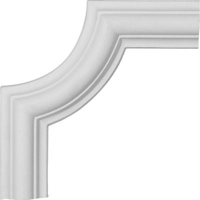6-1/8 in. x 3/4 in. x 6-1/8 in. Urethane Ashford Panel Moulding Corner (Matches Moulding PML01X00AS)