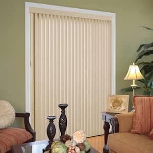 Textured Khaki Room Darkening 3.5 in. Vertical Blind Kit for Sliding Door or Window - 78 in. W x 84 in. L