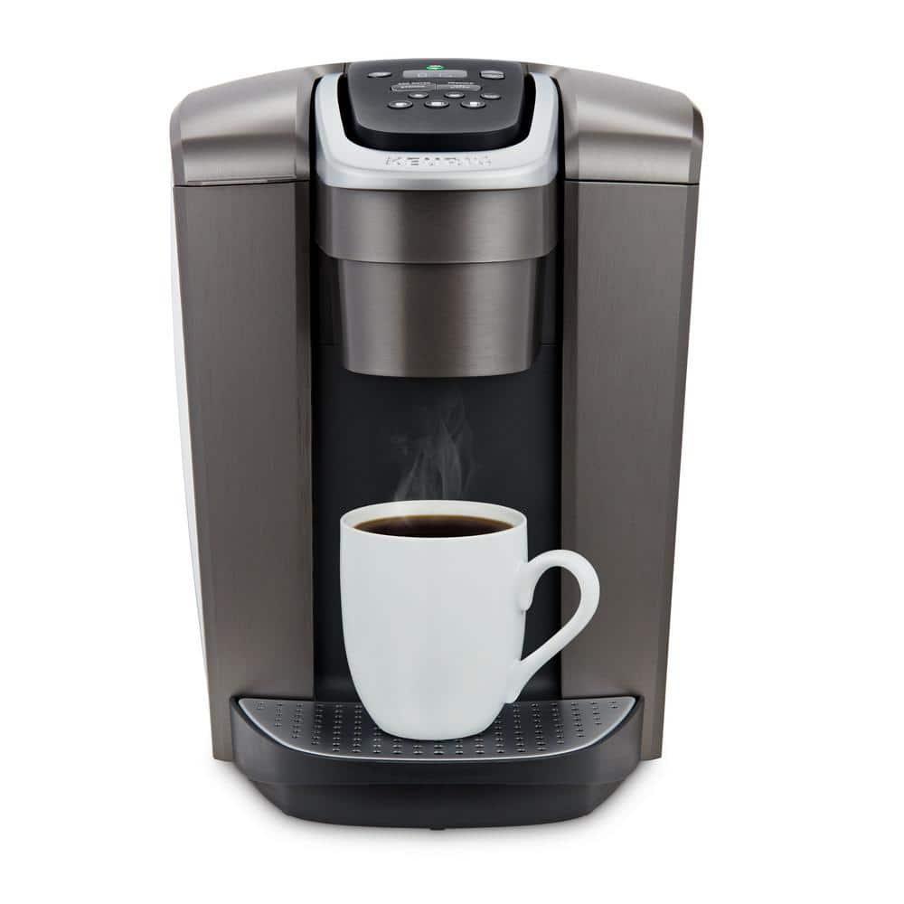 Keurig K-Elite Brushed Slate Single Serve Coffee Maker with Temperature Control-5000197490 - The Home Depot